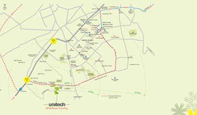 Unitech Anthea Floors Location Map