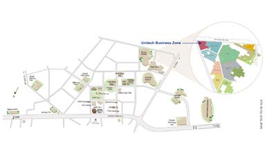 Unitech Business Zone Location Map