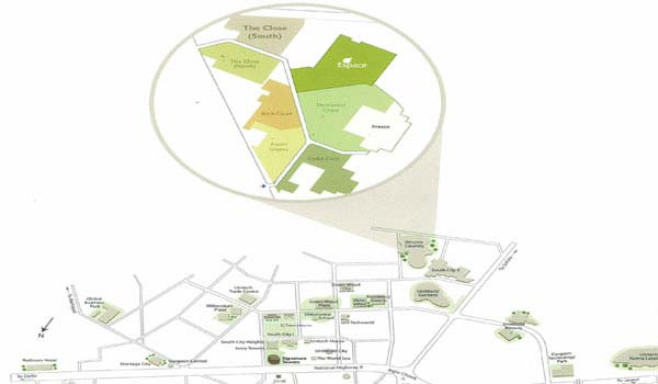 Unitech Close North Location Map