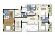 Floor Plan - 4 BHK Duplex Unit - 3735 sq.ft.