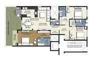 Floor Plan - 3 BHK Simplex Unit - 1850 sq.ft.