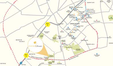 Unitech Espace Premiere Location Map