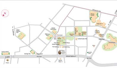 Unitech Exquisite Location Map