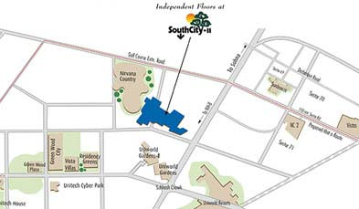 Unitech Floors at South City-2 Location Map