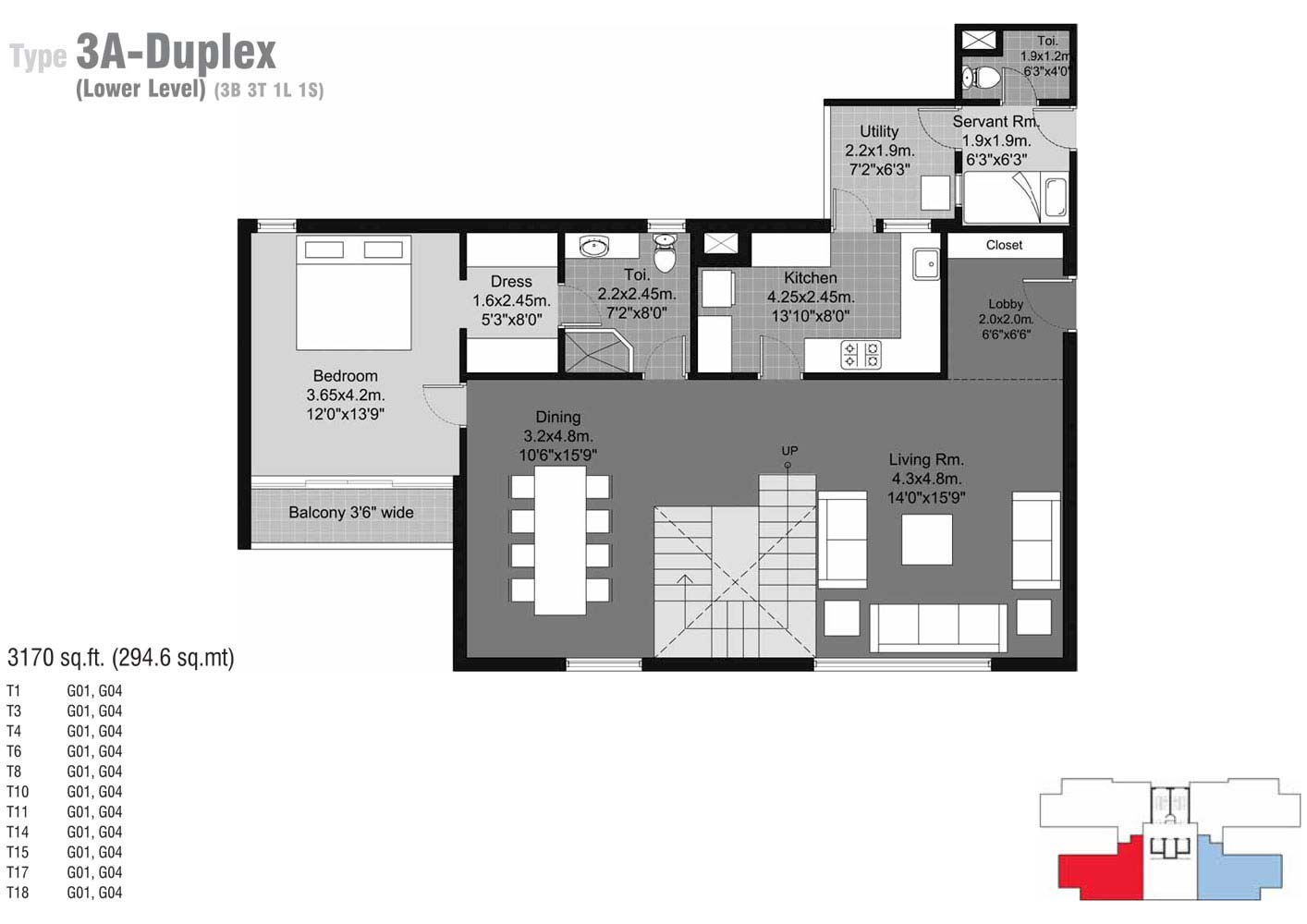 floor plan type3a duplex 3a 3170 sqft