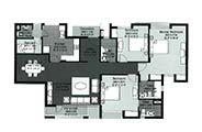 Floor Plan-3 BR+Servant Room-1908 sq.ft.