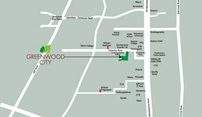 Unitech Greenwood City Location Map