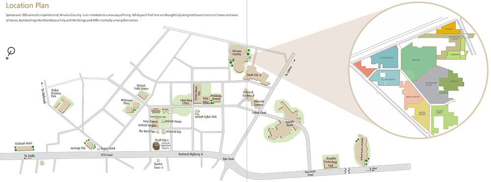 Unitech Independent Floor In Nirvana Country Gurgaon