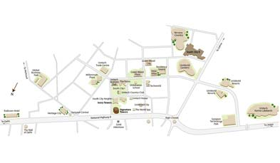 Unitech Ivory Towers Location Map