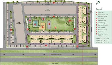 Unitech Gardens Key Plan