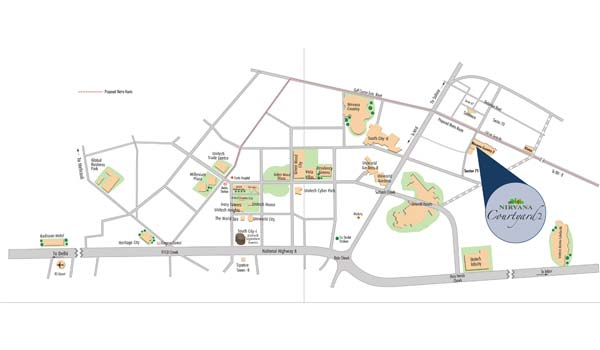 Unitech Nirvana Courtyard II Location Map