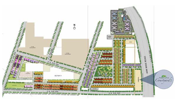 Unitech Nirvana Courtyard II Master Plan