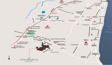 Unitech Palm Premiere Location Map