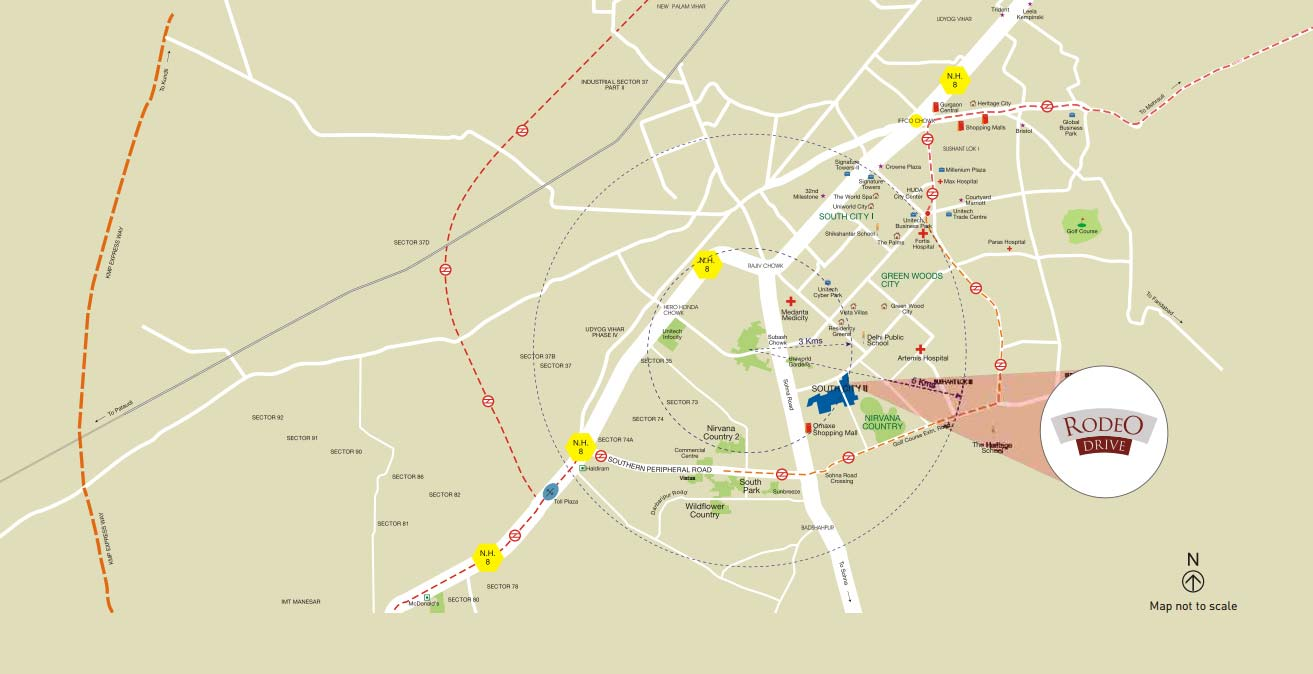 Rodeo Drive Commercial Projects in Gurgaon Unitech Group