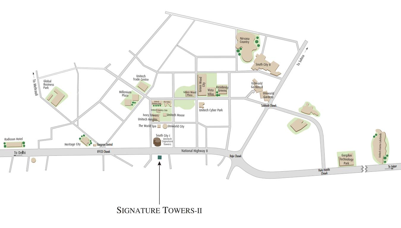 Signature Towers II - Commercial Projects in Gurgaon - Unitech Group