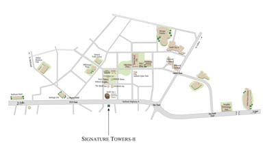 Unitech Signature Towers II Location Map