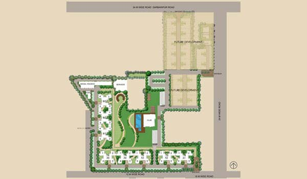 Unitech Crestview Apartments Key Plan