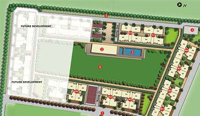 Unitech The Residences Key Plan