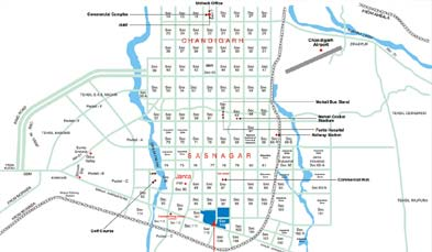 Unitech Aspen Greens Location Map