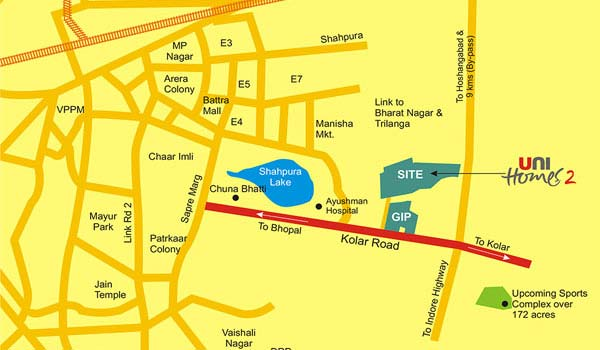 Unitech Unihomes Location Map