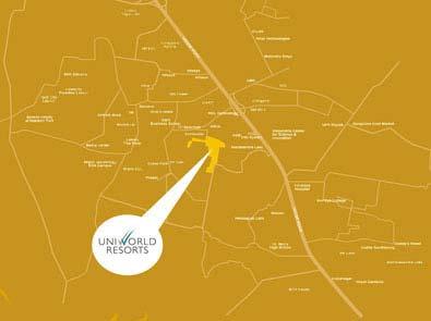 Unitech Uniworld Resorts Location Map