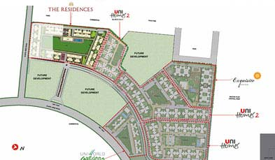 Unitech The Residences Master Plan