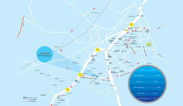 Unitech The Concourse Location Map