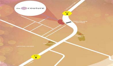 Unitech The Couture Location Map