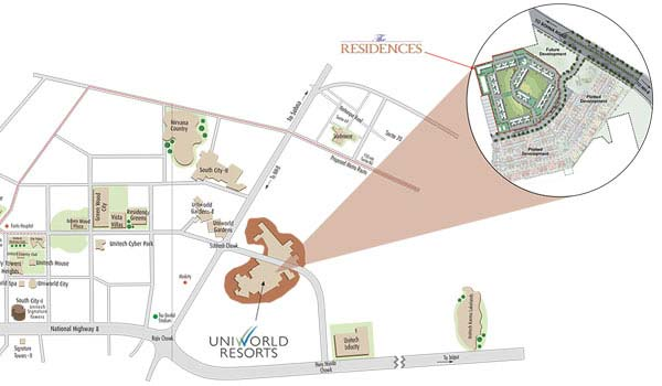Unitech The Residences Location Map