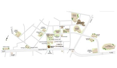 Unitech The World Spa Location Map