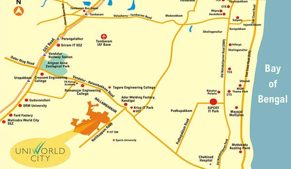 Unitech Unihomes 1 Location Map