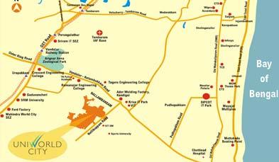 Unitech Unihomes-2 Location Map