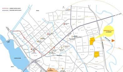 Unitech Unihomes Superb Location Map