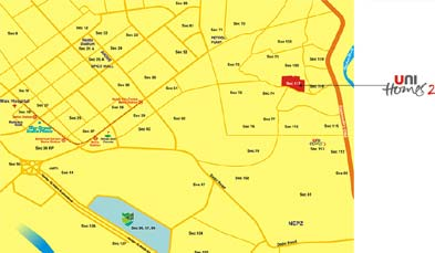 Unitech Unihomes Phase 2 Location Map