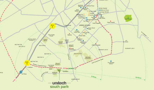 Unitech South Park Location Map