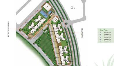 Unitech Uniworld Gardens Key Plan