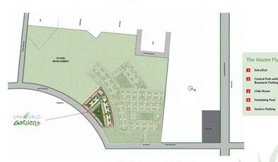 Unitech Uniworld Gardens Master Plan