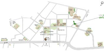 Unitech Uniworld Gardens II Location Map